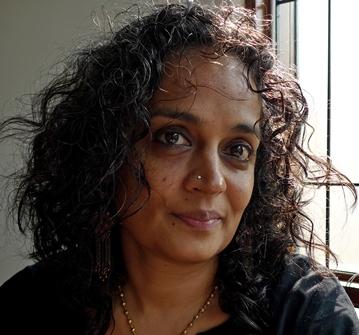 Arundhati Roy; credit Sanjay Kak