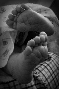 White baby feet